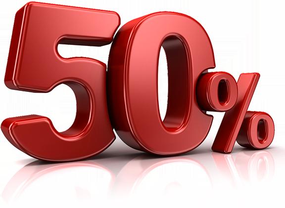 Sconti fino al 50%
