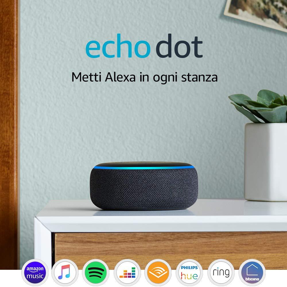 Echo Dot (3ª generazione) - Altoparlante intelligente con integrazione Alexa