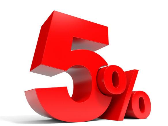 5% sconto